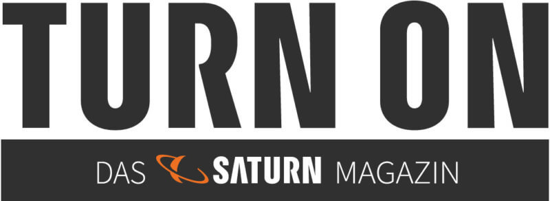 Logo TURN ON-Das Saturn Magazin