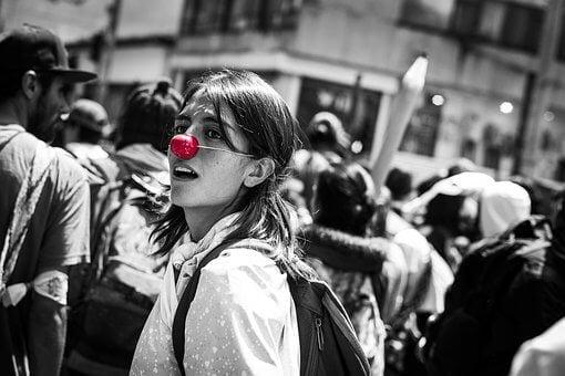 Symbolbild für eine Frau an Karneval