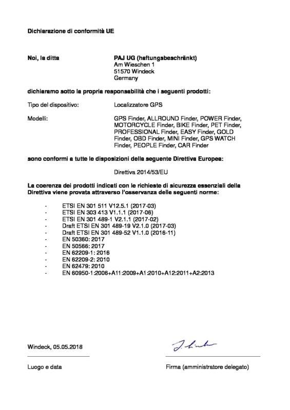 IT EU- Konformitätserklärung ITA
