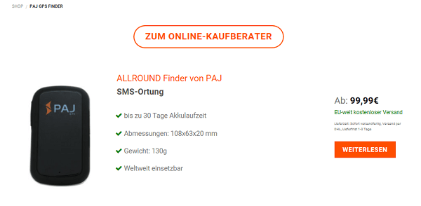 Online-Kaufberater Button