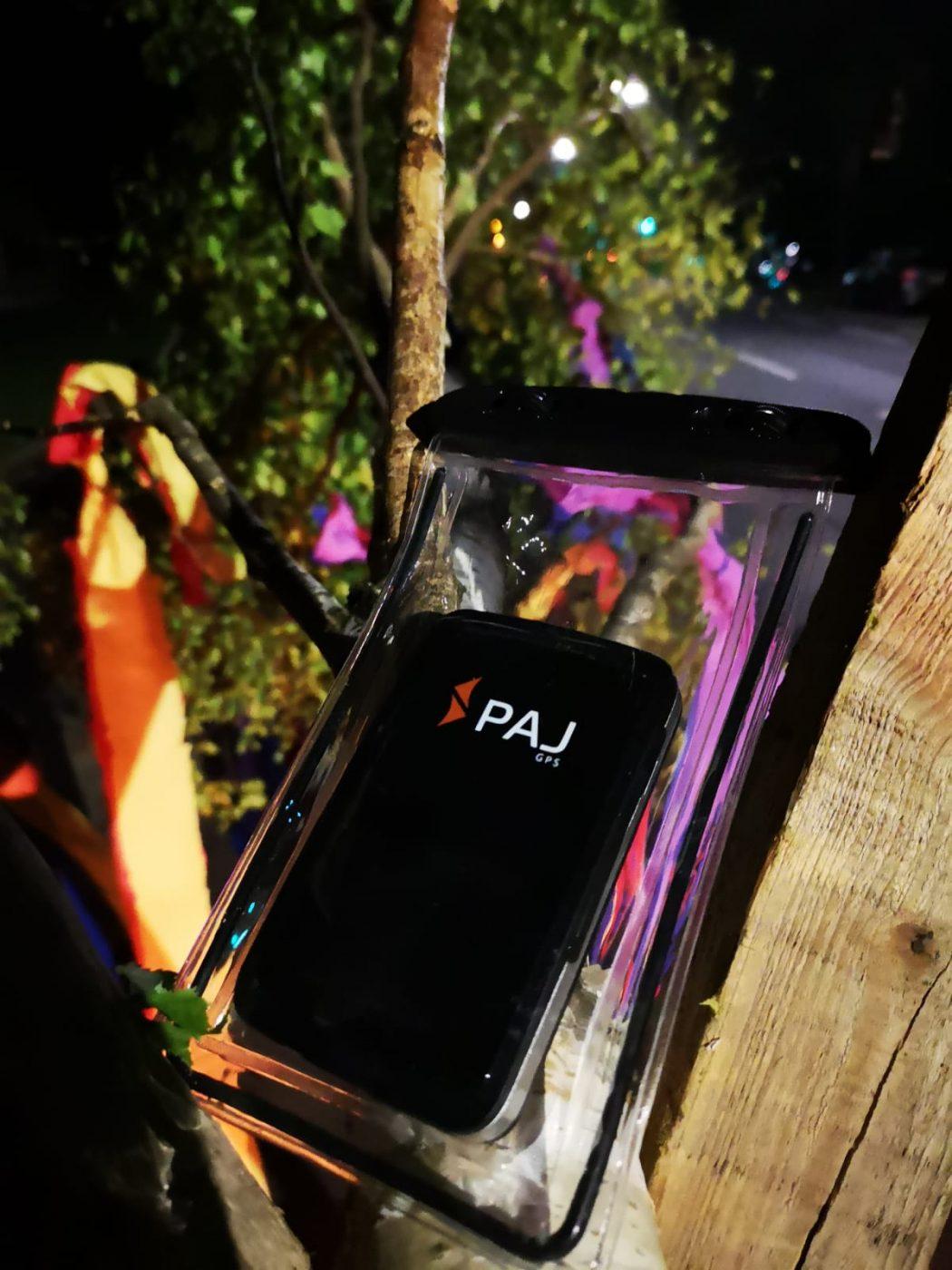 GPS Tracker an einem Maibaum