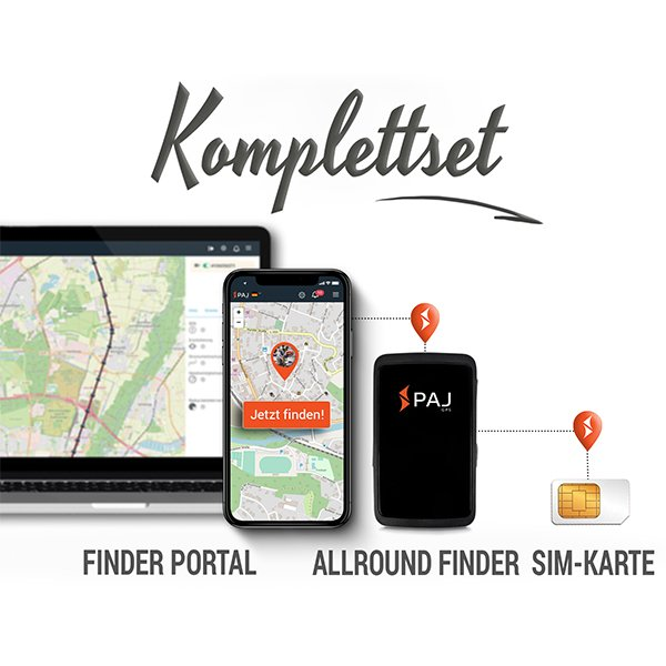 collage komplettset allround finder paj - GPS-Tracker für Roller