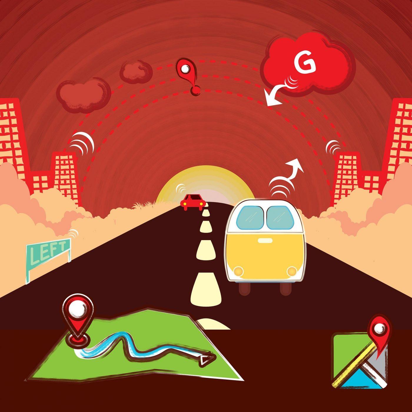Illustration zum Thema GPS-Ortung