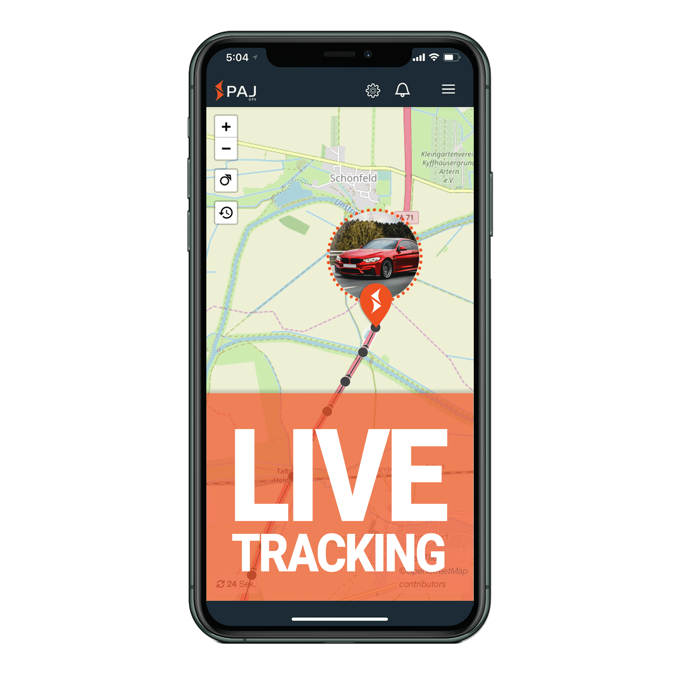 mock up anwendungsgebiet gps tracker auto live tracking - AG GPS Tracker Taxis