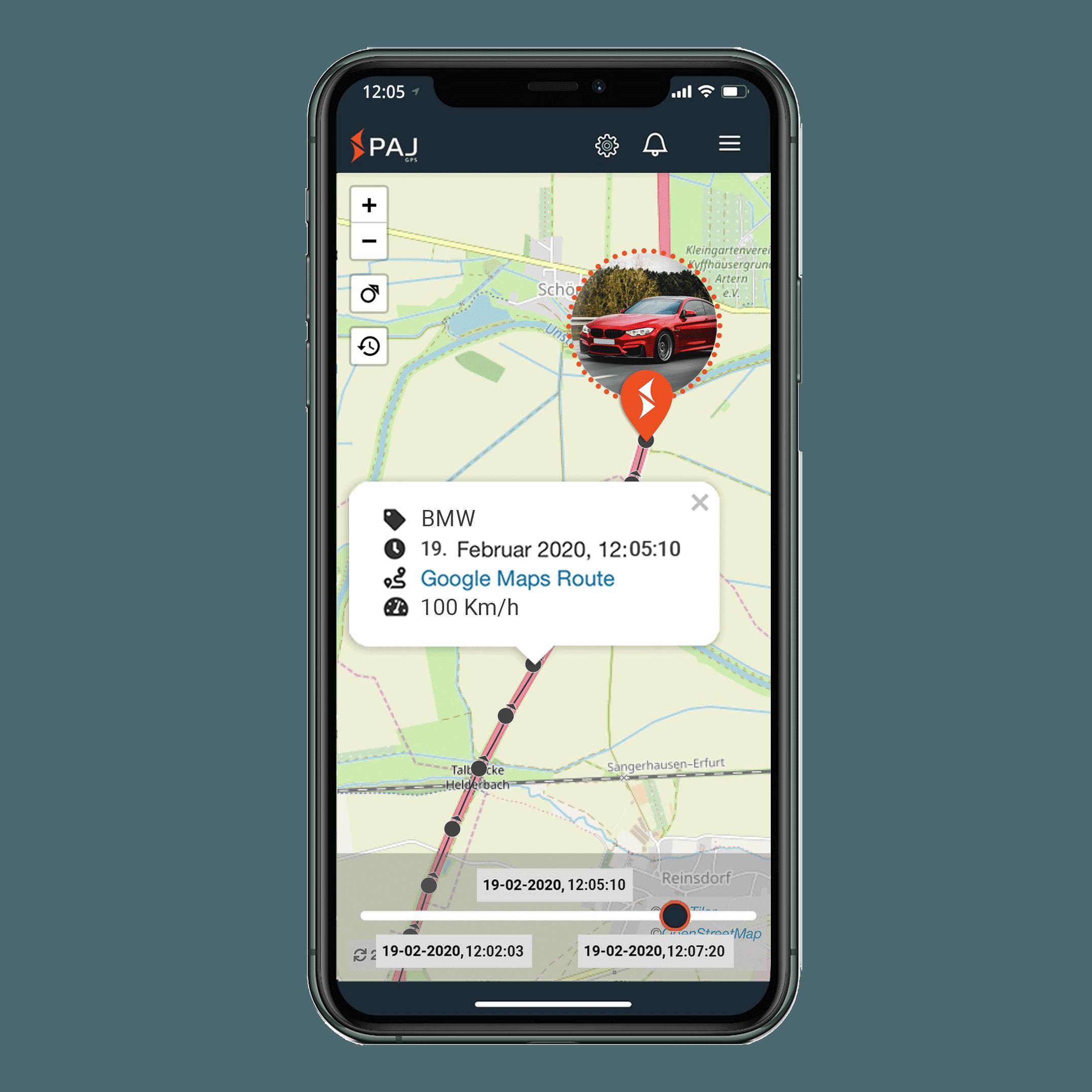 mock up anwendungsgebiet gps tracker auto streckenspeicherung - AG GPS-Tracker für Container