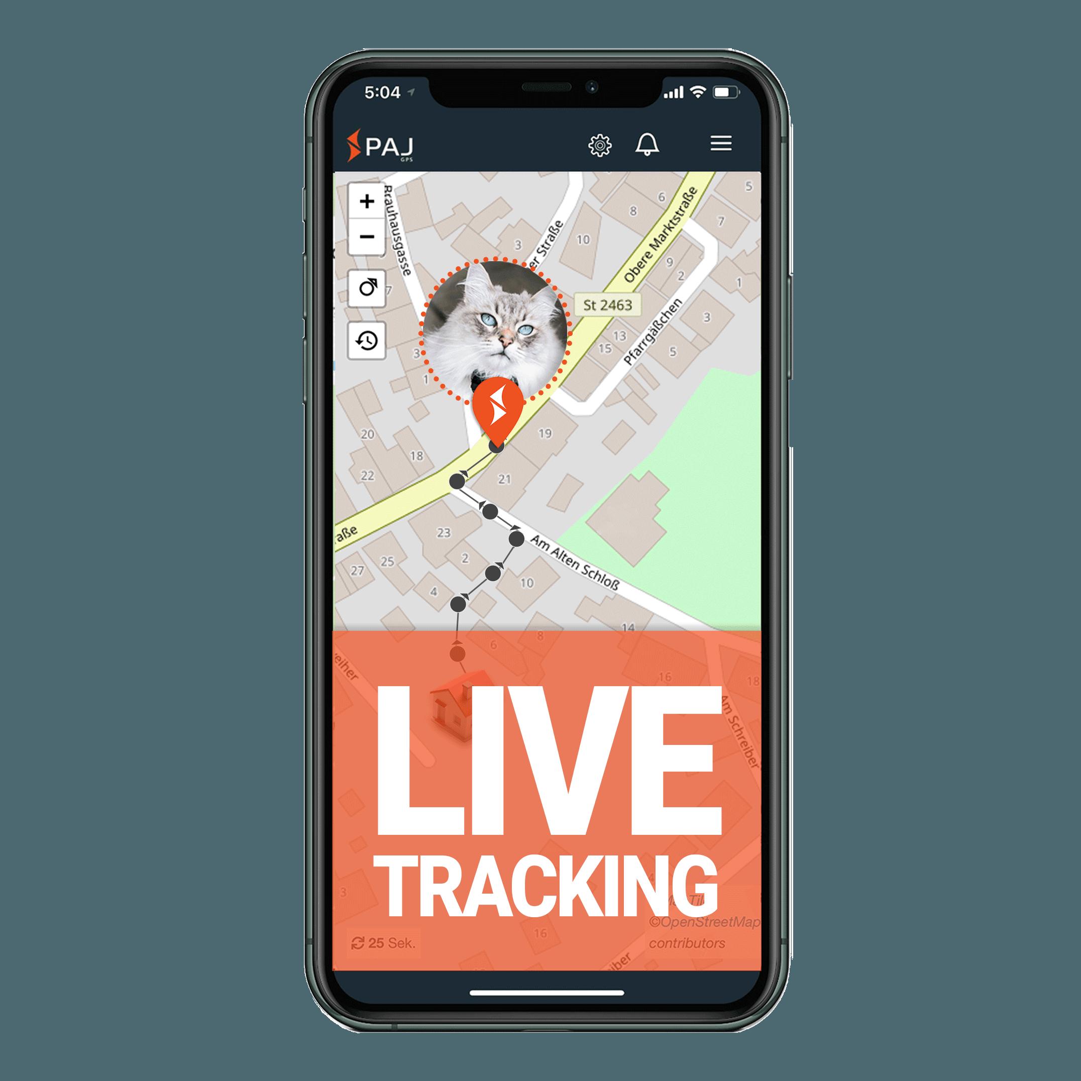 mock up anwendungsgebiet gps tracker katze live tracking - AG GPS Tracker für Katzen