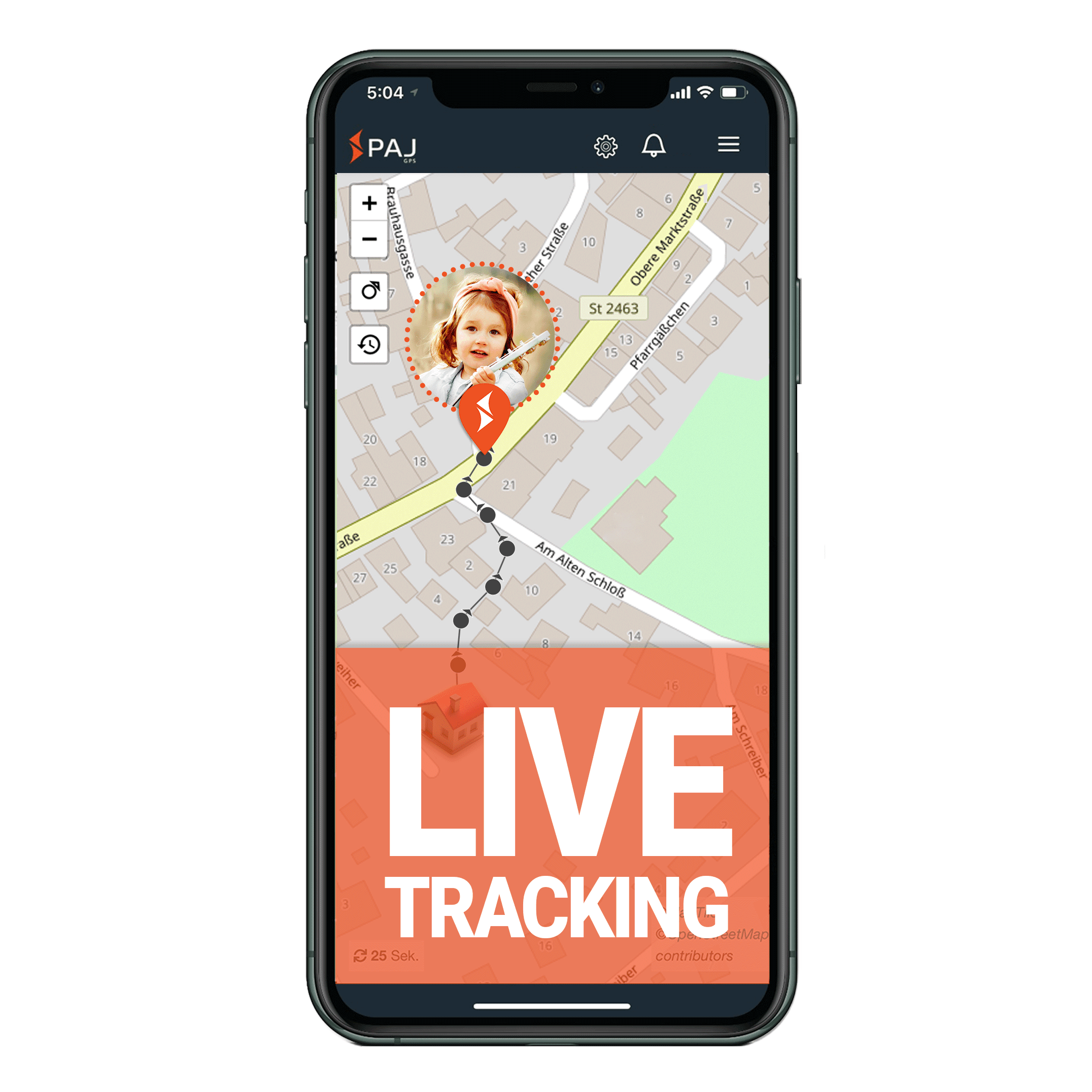 mock up anwendungsgebiet gps tracker kind live tracking - AG GPS Tracker für Kinder