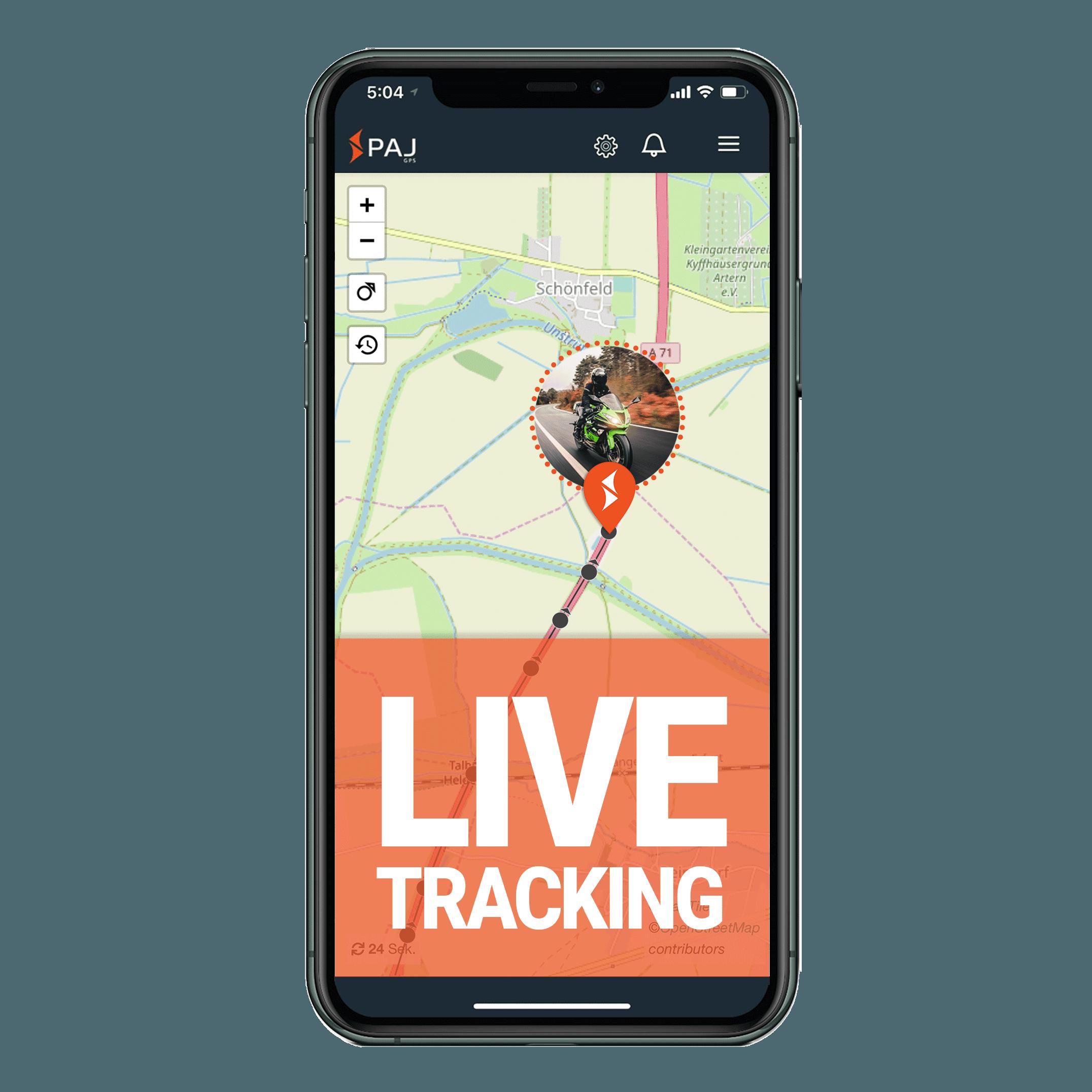 mock up anwendungsgebiet gps tracker motorrad live tracking - AG GPS Tracker Motorrad