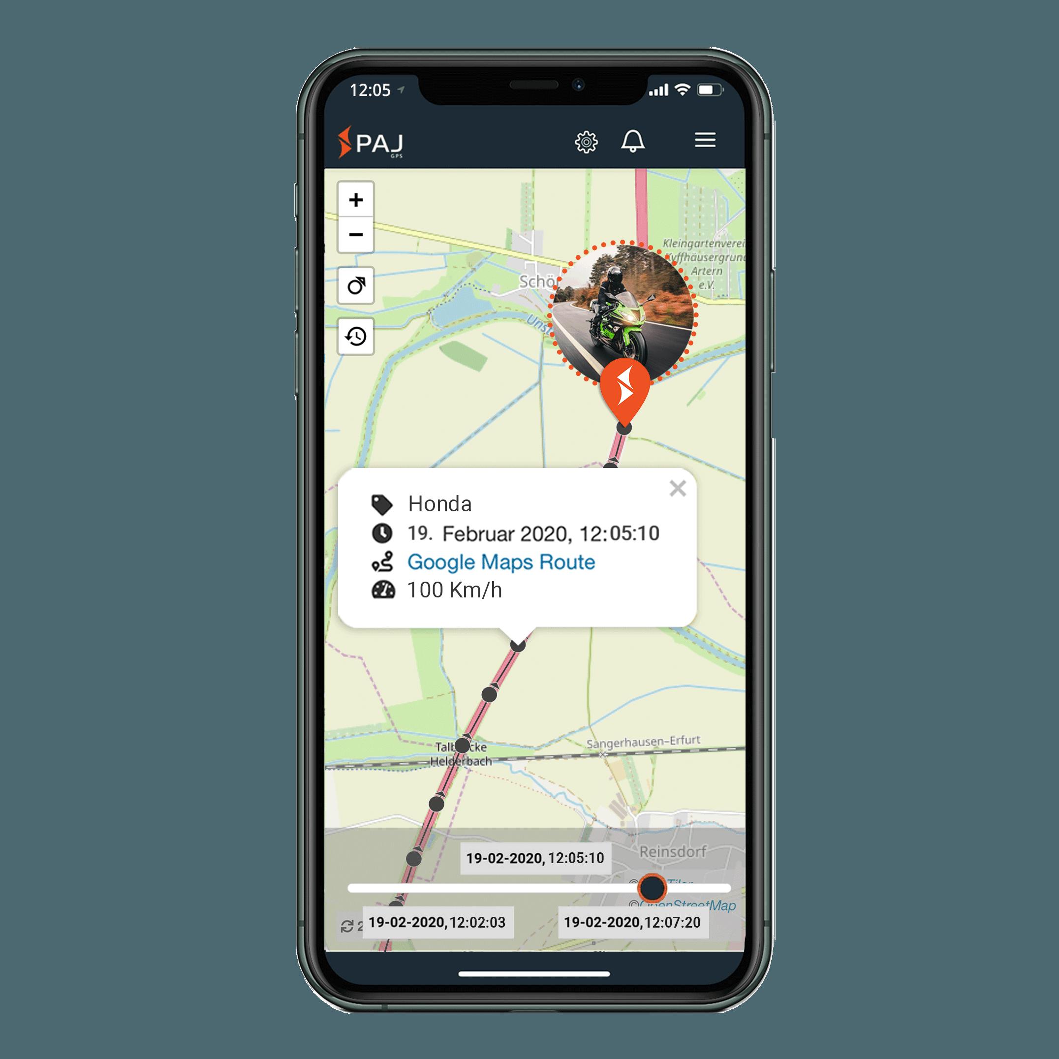 mock up anwendungsgebiet gps tracker motorrad streckenspeicherung - Startseite