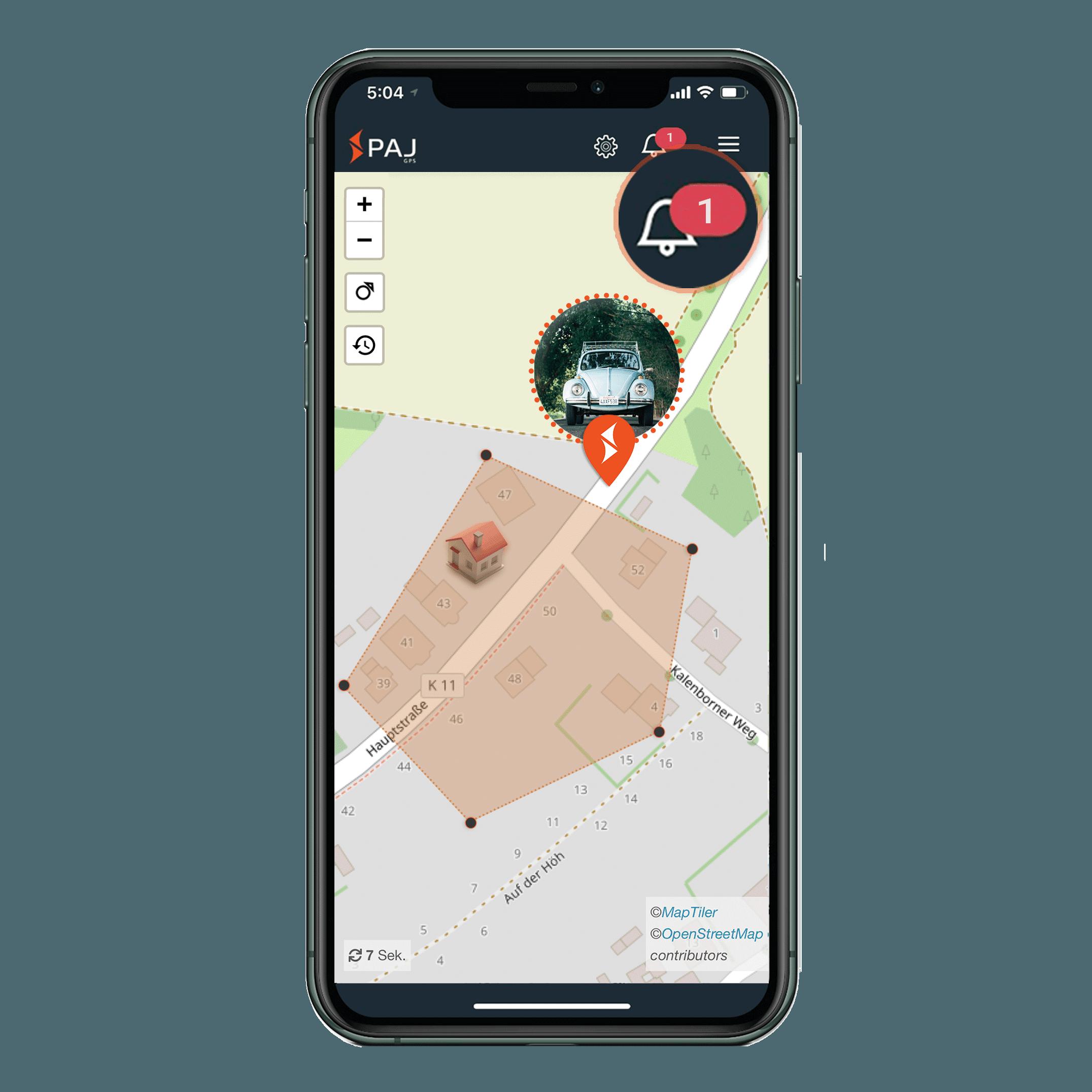 mock up anwendungsgebiet gps tracker oldtimer radius alarm - AG GPS Tracker Oldtimer