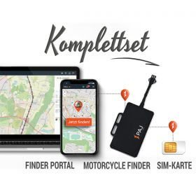 collage komplettset motorcycle finder paj gps tracker - Peilsender