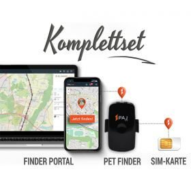collage komplettset pet finder paj gps tracker - AG GPS Tracker für Transporter