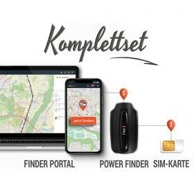 collage komplettset power finder paj gps tracker - Peilsender