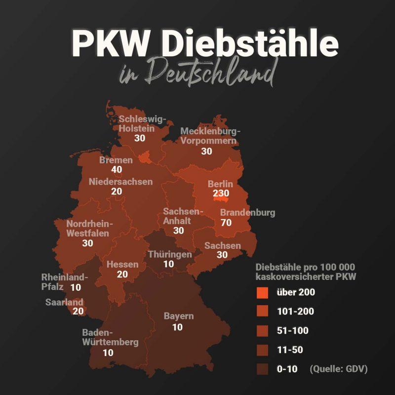 Diebstaehle PKW Deutschland 800x800 - Autodiebstähle 2021 Deutschlands - GPS Tracker als Lösung